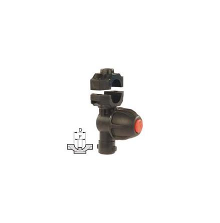 Enkel munstyckshållare med droppskydd för rör
