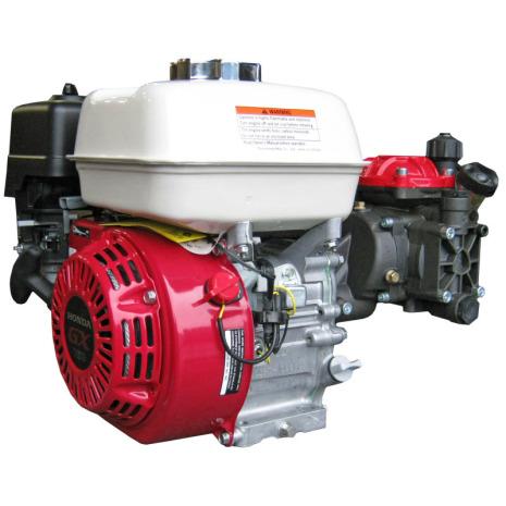 Motordriven (4-takt) kolvmembranpump 2-cyl, 25 l/min
