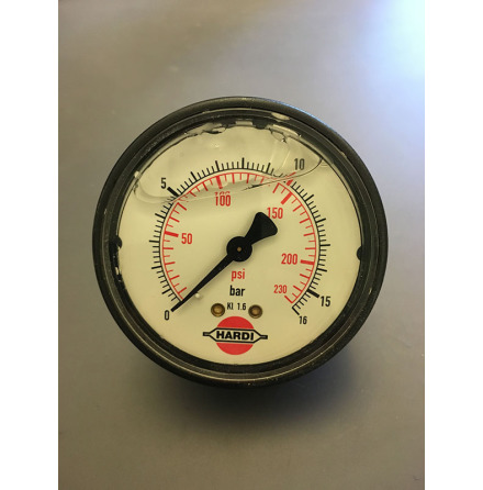 MANOMETER 16 BAR ø:100 MM.